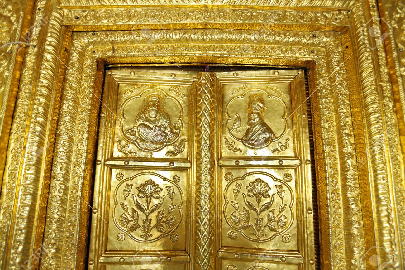 Superior Gold Plated Door Sikhism Gurudwara Hazur Sahib Sachkhand Nanded Maharashtra  India Stock Photo   85912510