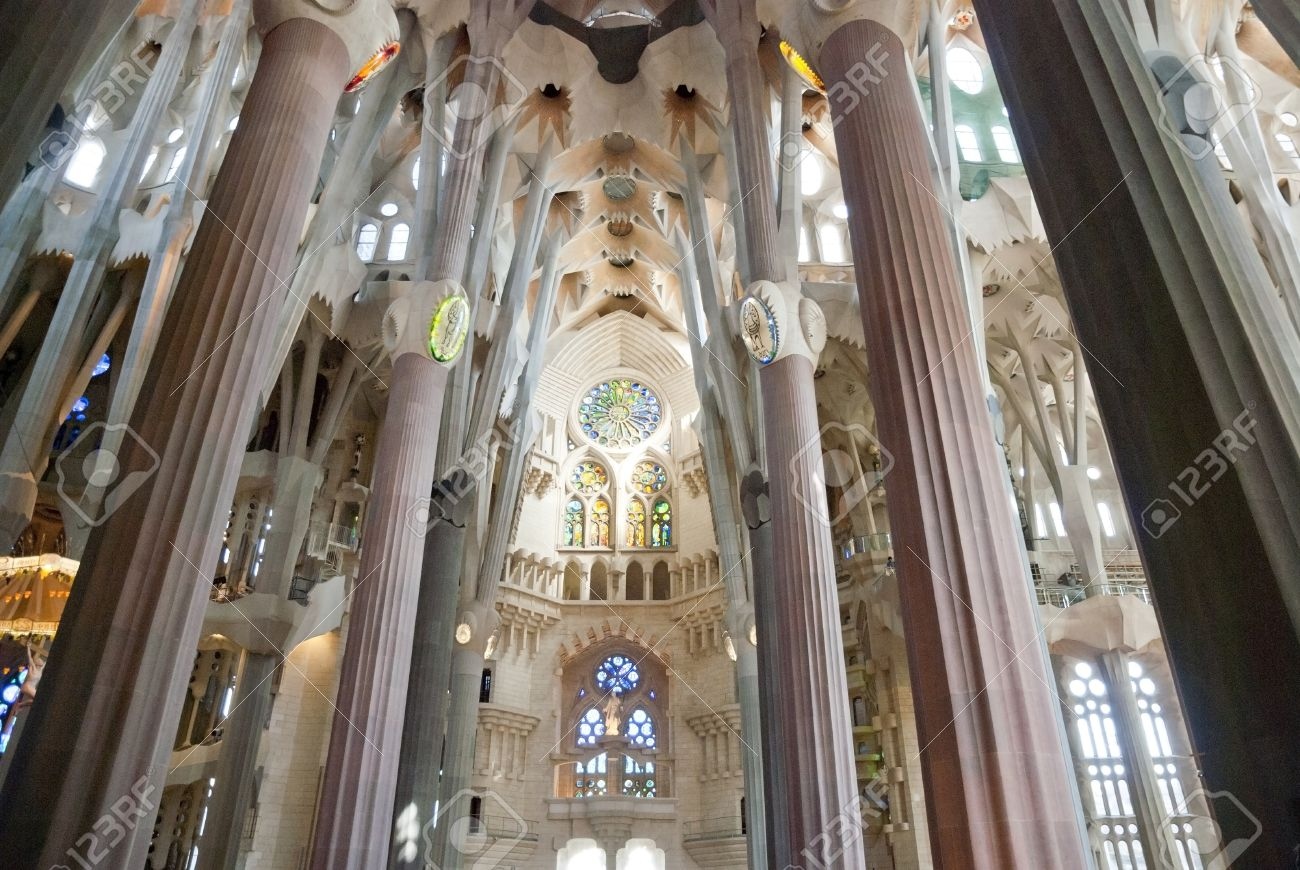Interior Of Sagrada Familia Church Barcelona Catalunia Spain Stock Photo Picture And Royalty Free Image Image 18510143