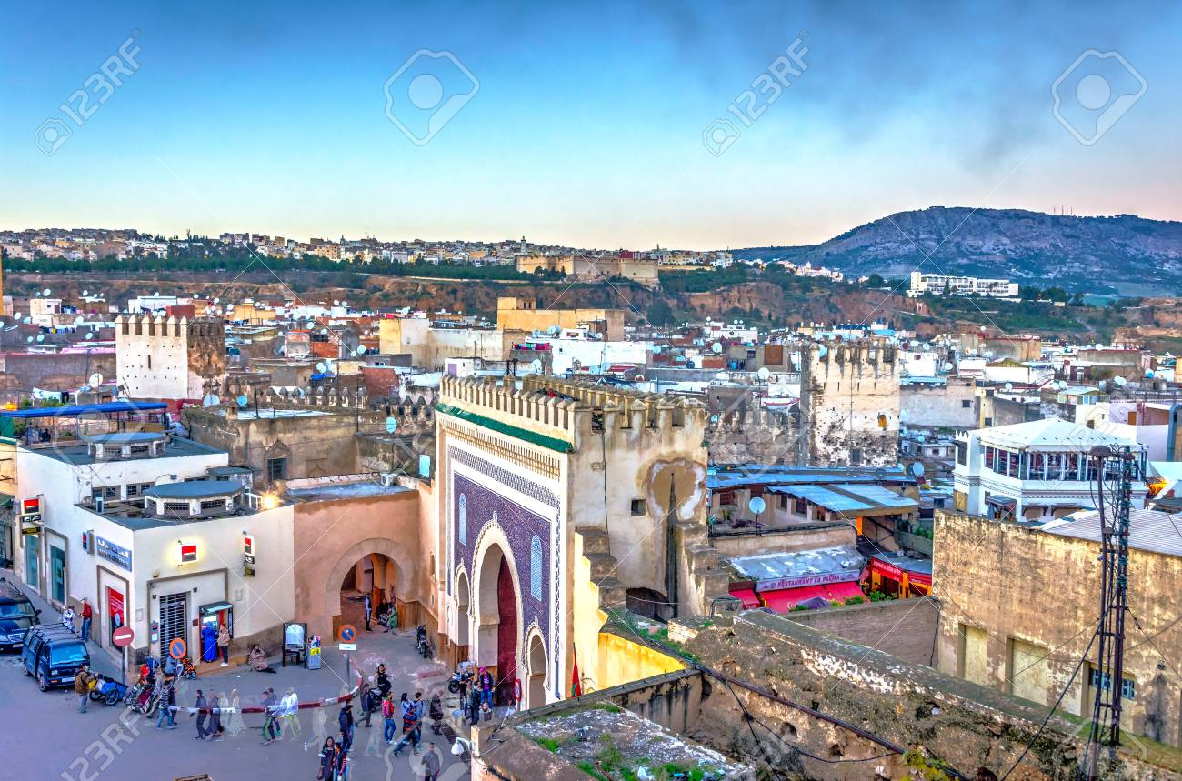 92694143 fez city medina old town skyline in twilight morocco