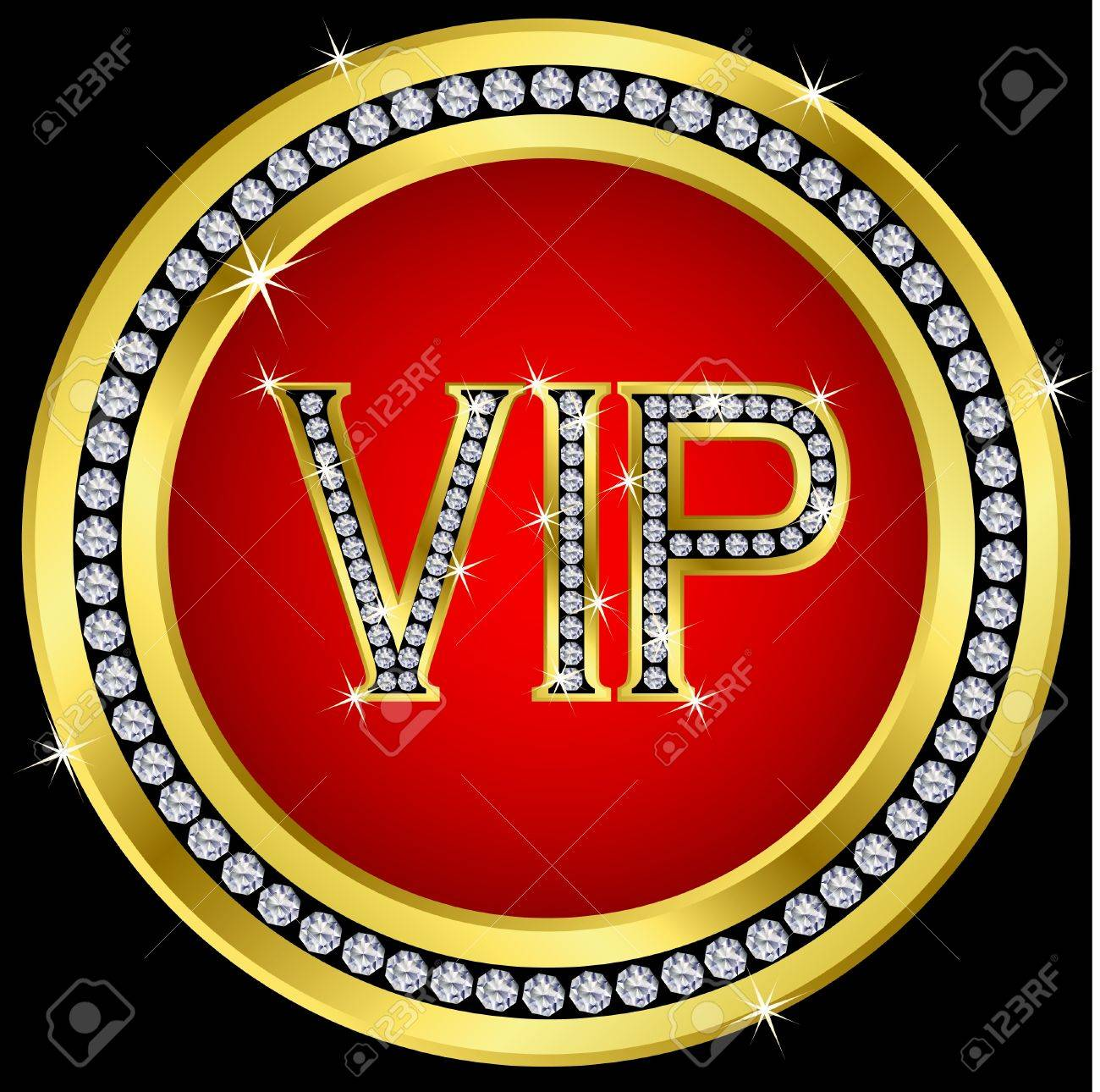 Vip with diamonds, vector Stock Vector - 11657357