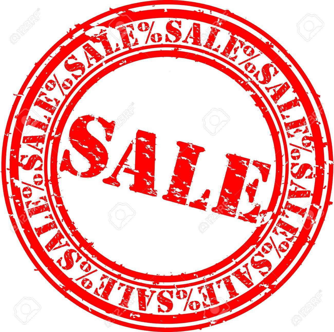 Grunge sale rubber stamp, illustration Stock Vector - 12239271