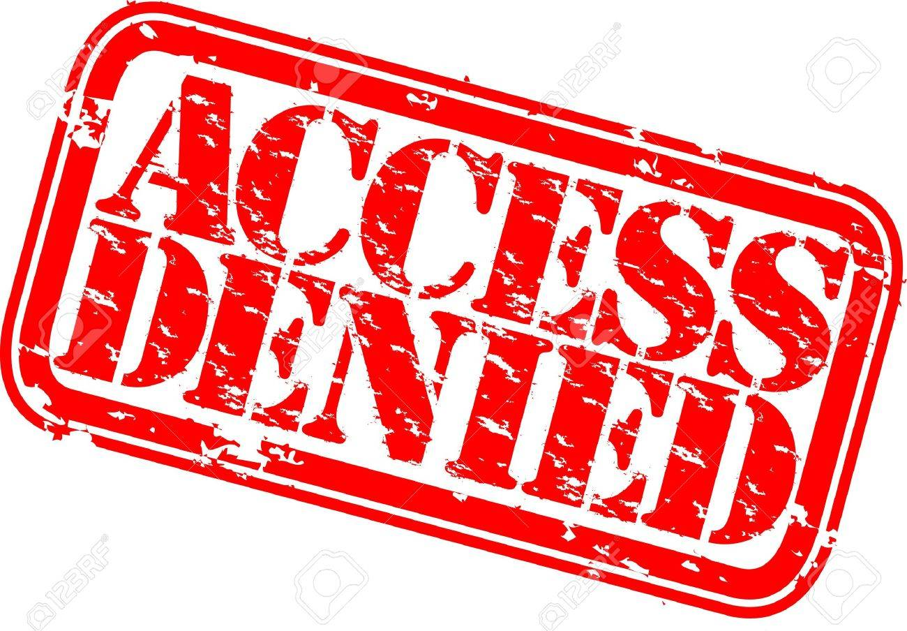 Grunge access denied rubber stamp, vector illustration Stock Vector - 12484987
