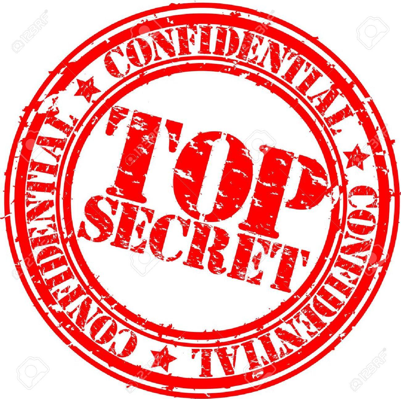 Grunge top secret rubber stamp, vector illustration - 12485251