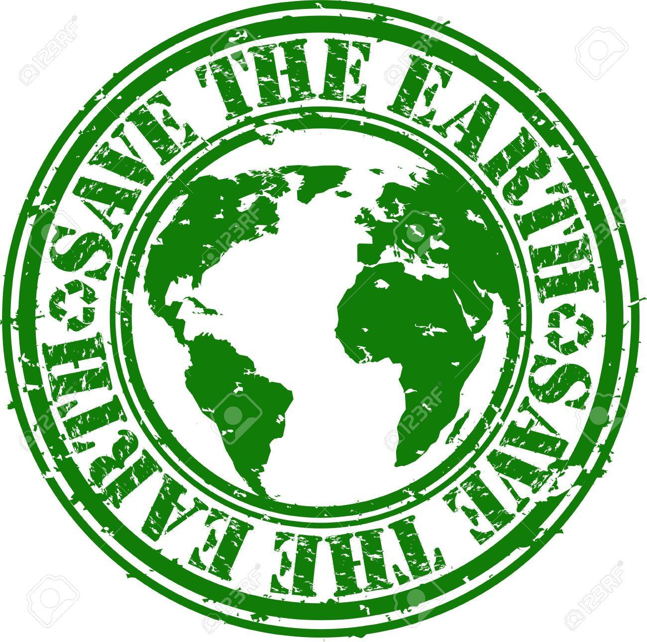Grunge save the earth rubber stamp, vector illustration Stock Vector - 13109759