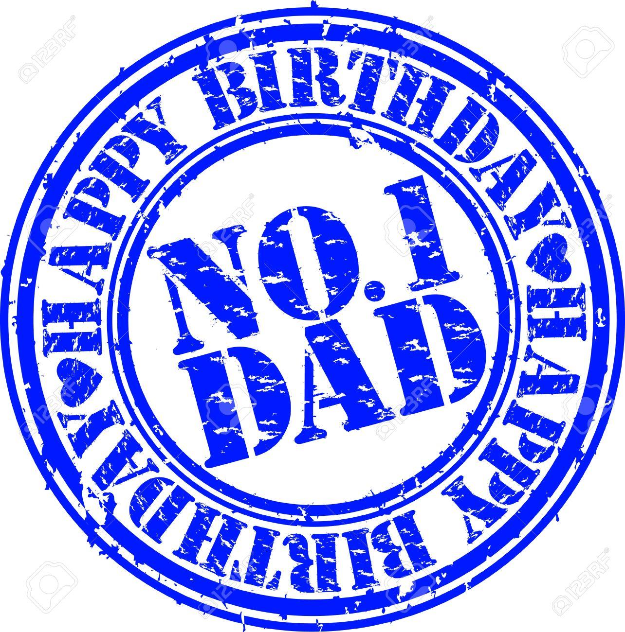 Grunge happy birthday dad, vector illustration Stock Vector - 13610805