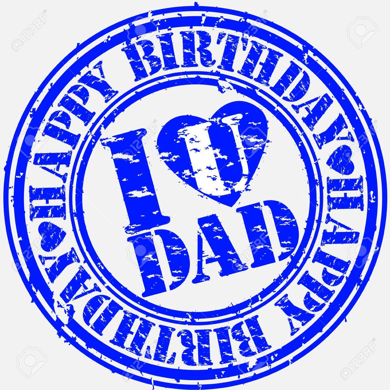 Grunge happy birthday dad, vector illustration Stock Vector - 13610789