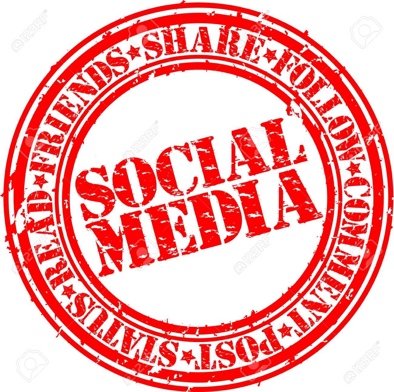 Grunge social media rubber stamp,vector illustration Stock Vector - 14634693