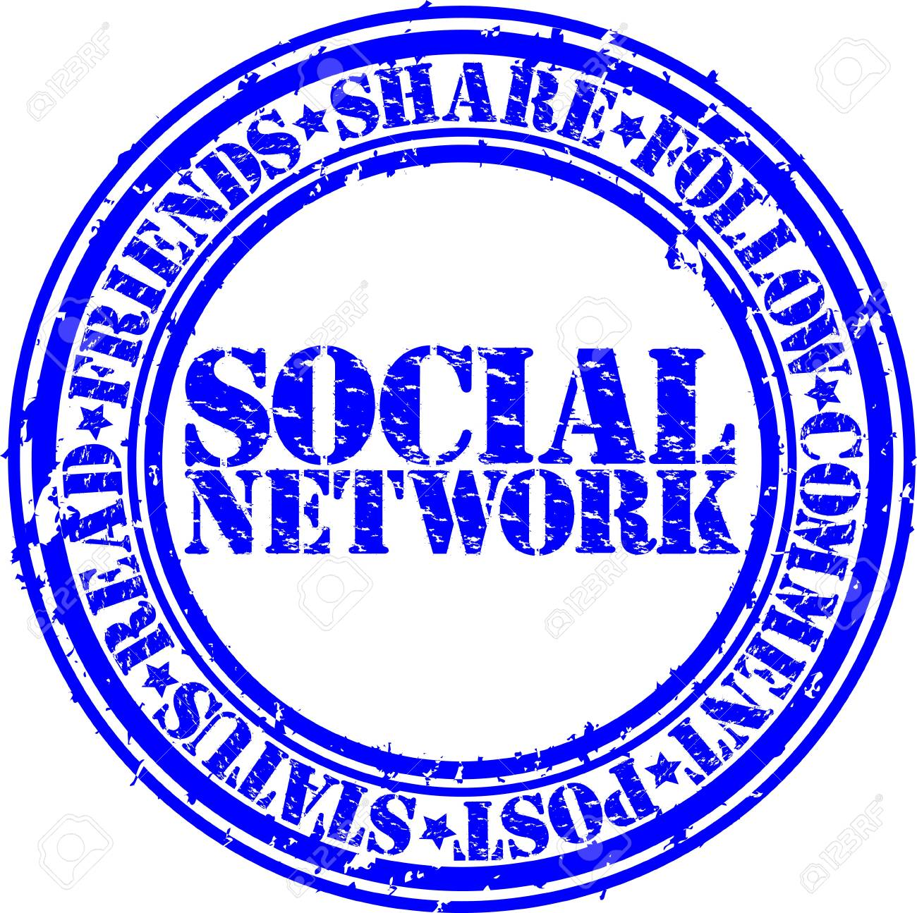 Grunge social network rubber stamp,vector illustration Stock Vector - 14634695