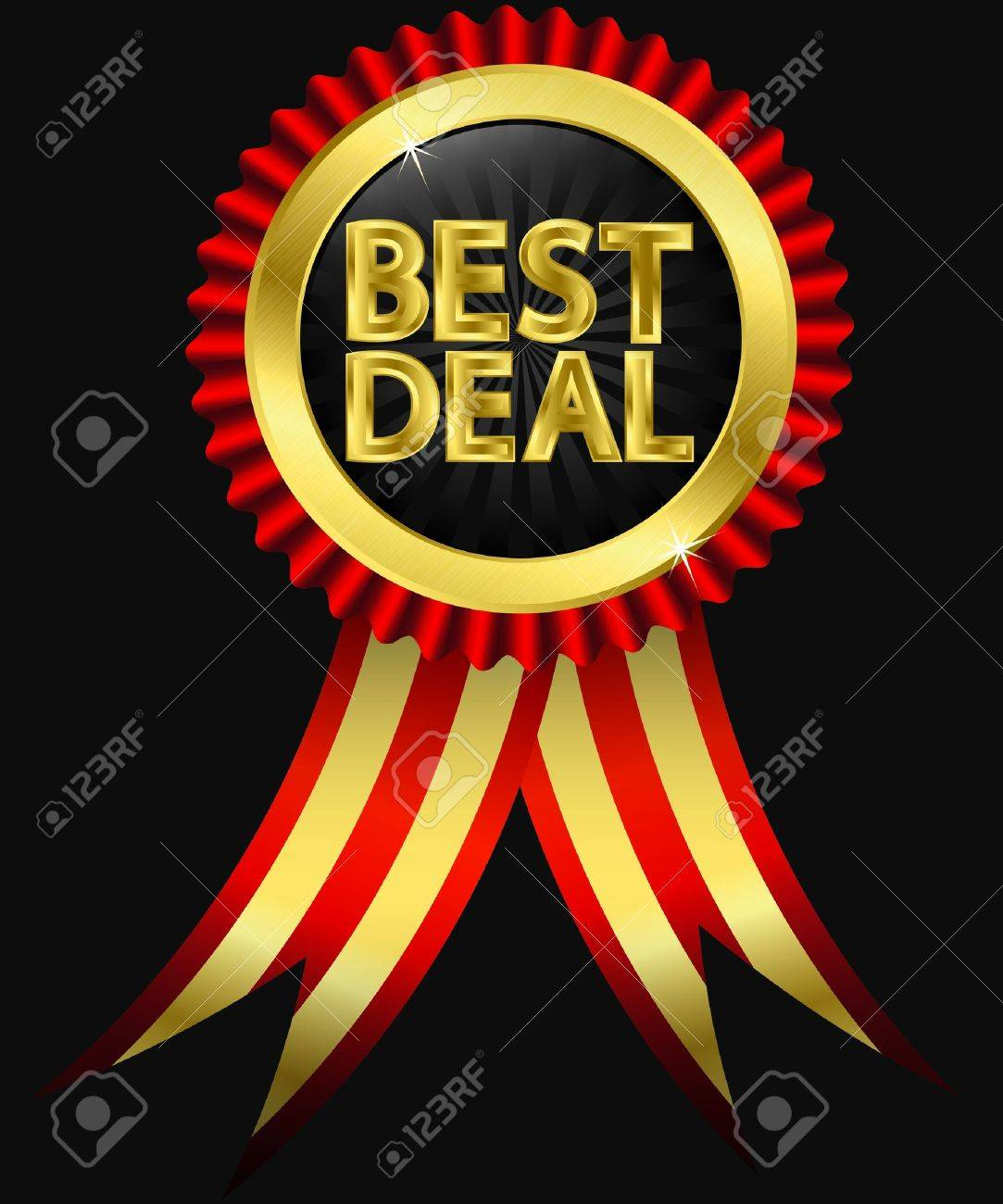Best Deal Golden Label With Ribbons Royalty Free Cliparts, Vectors ...