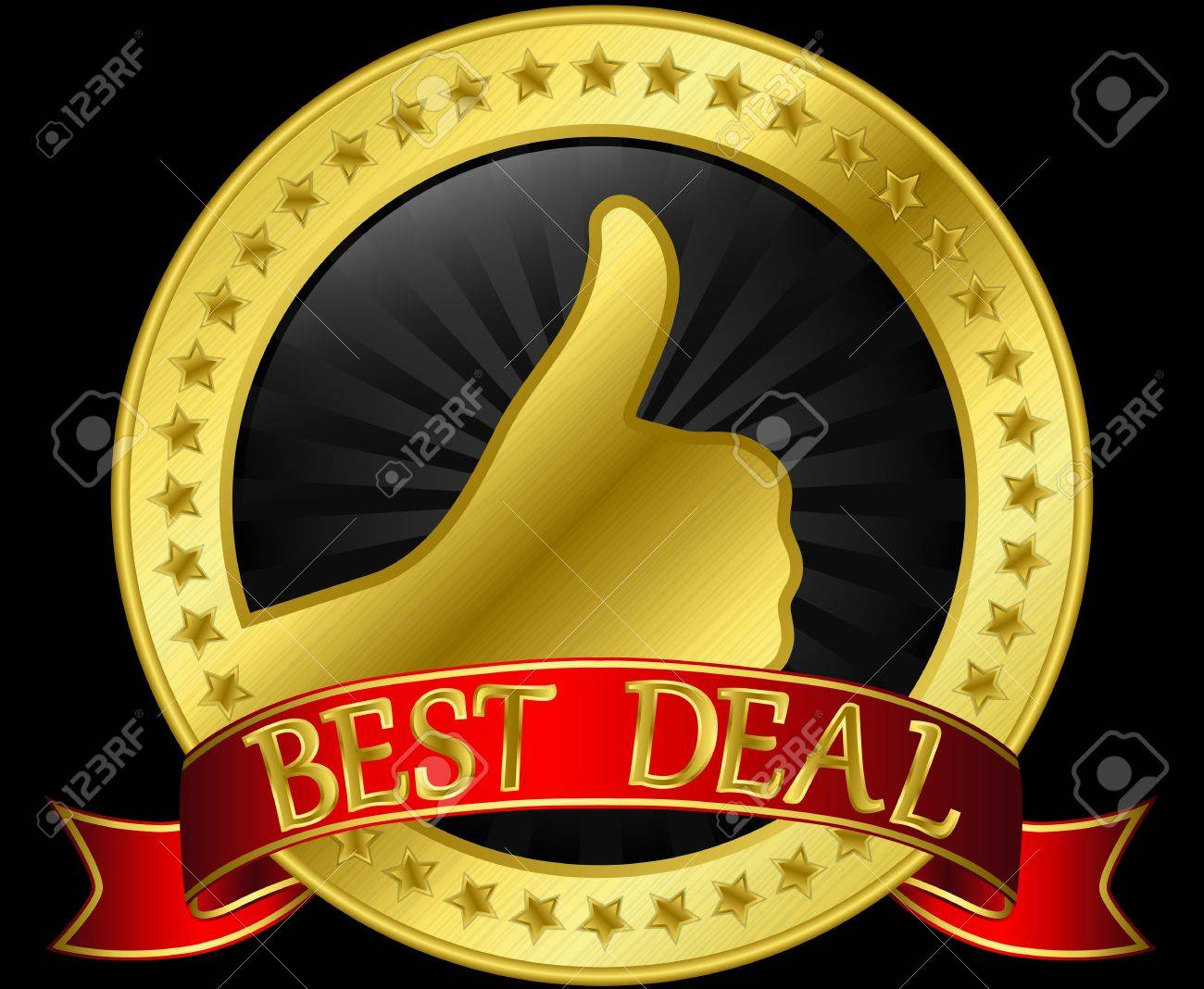 Best Deal Golden Label With Ribbon Royalty Free Cliparts, Vectors ...