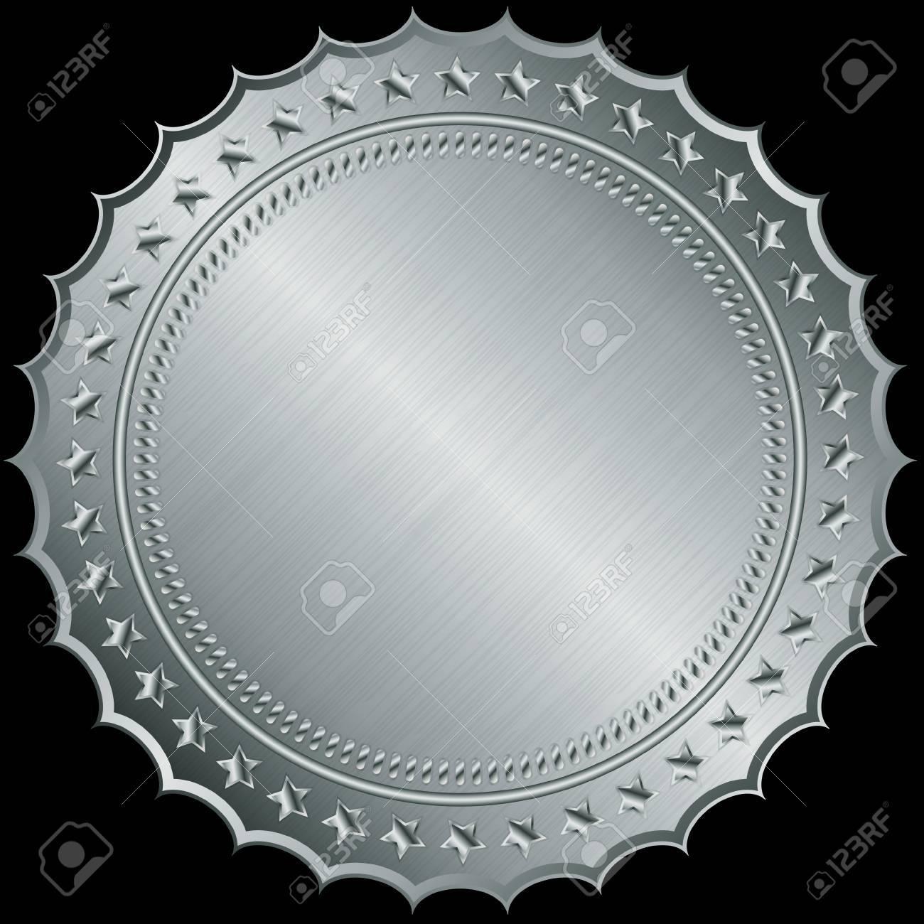 Silver blank label, illustration Stock Vector - 14969745