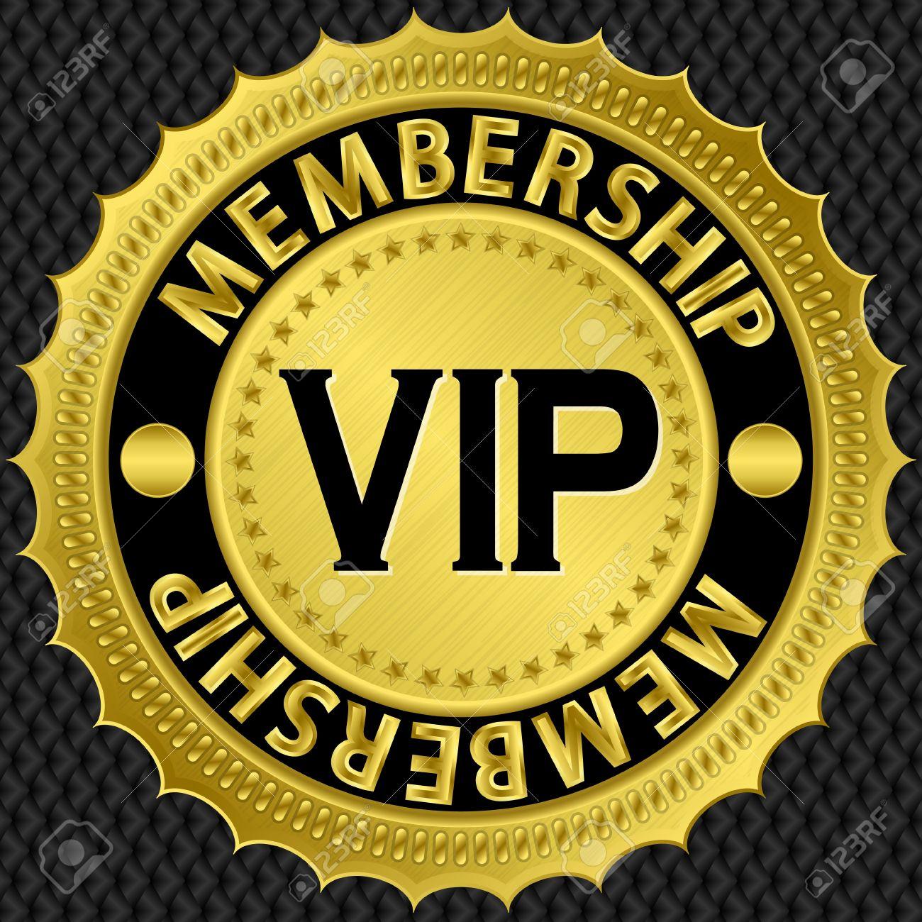 Vip golden label, illustration Stock Vector - 15148299