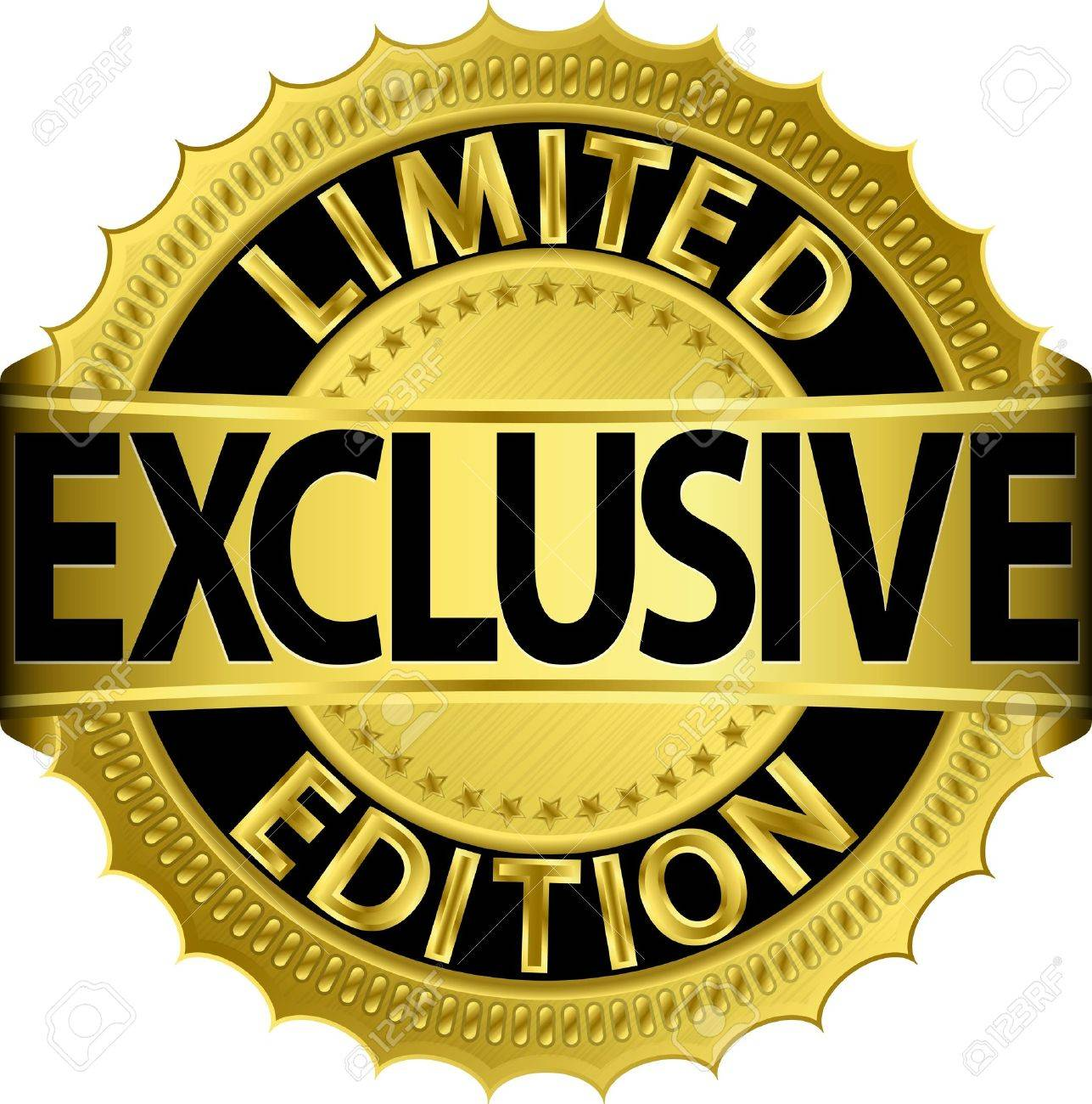 fd56311b67ab Limited Edition Exclusive Golden Label Royalty Free Cliparts ...