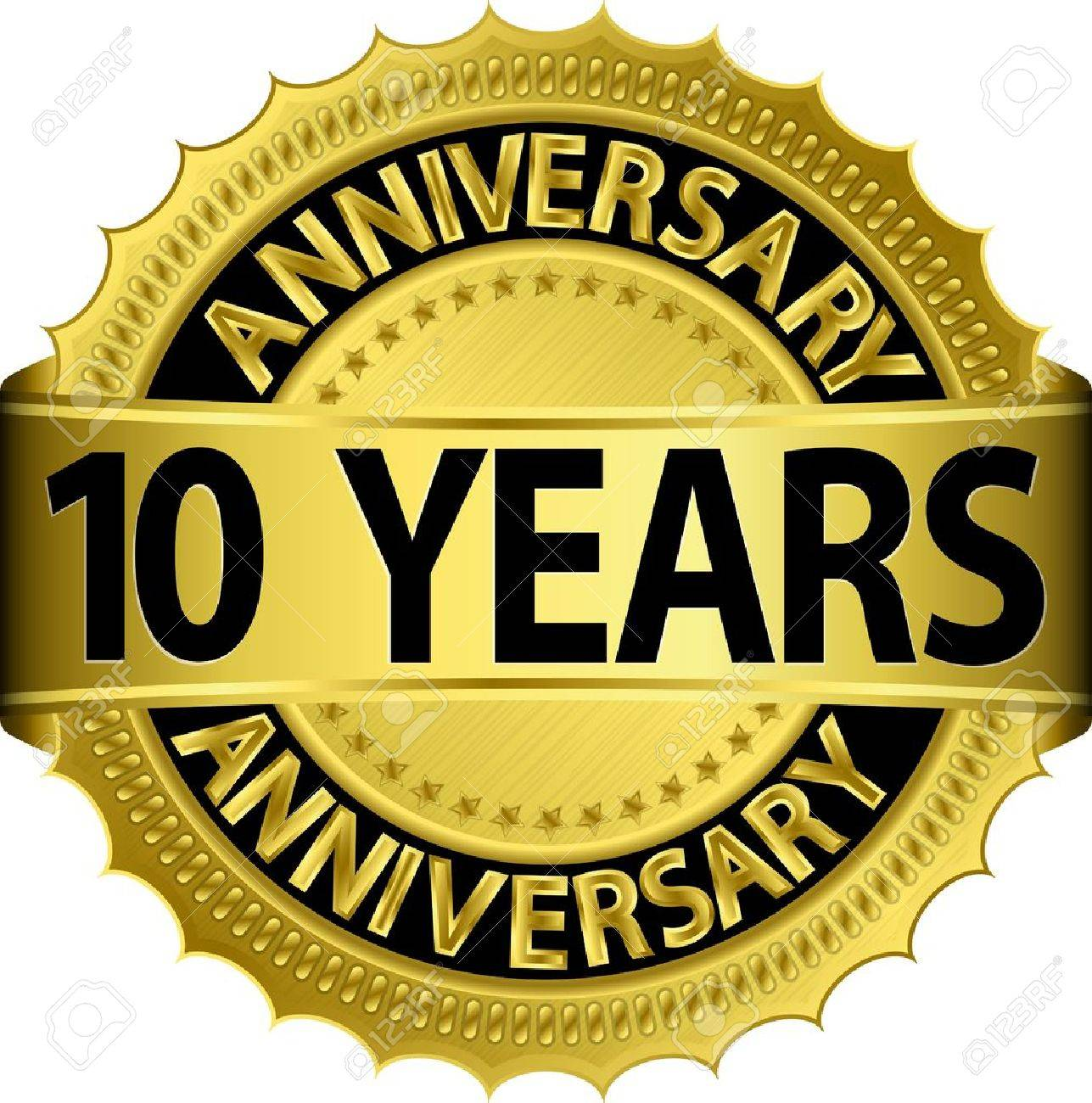 Anniversary Banner Vector Anniversary Banner 10 Years