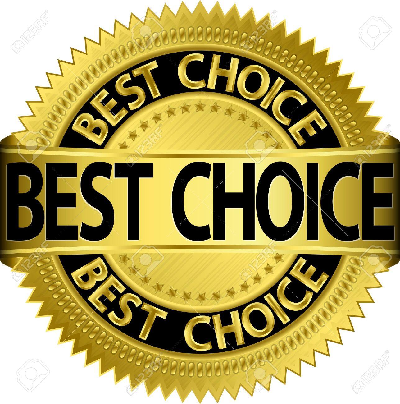 Best choice golden label, illustration - 15922814