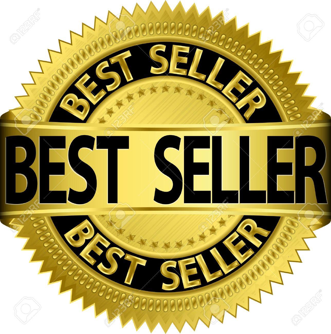 Best seller golden label, illustration Stock Vector - 15922817