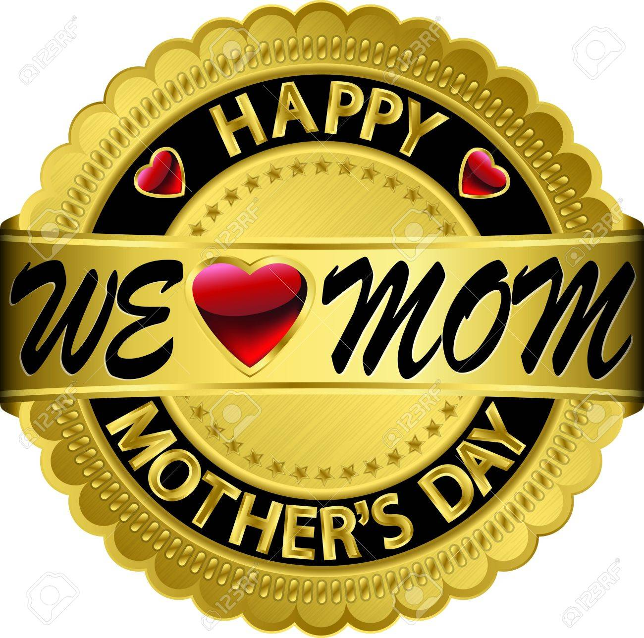 Happy mother s day golden label, vector illustration Stock Vector - 16540887