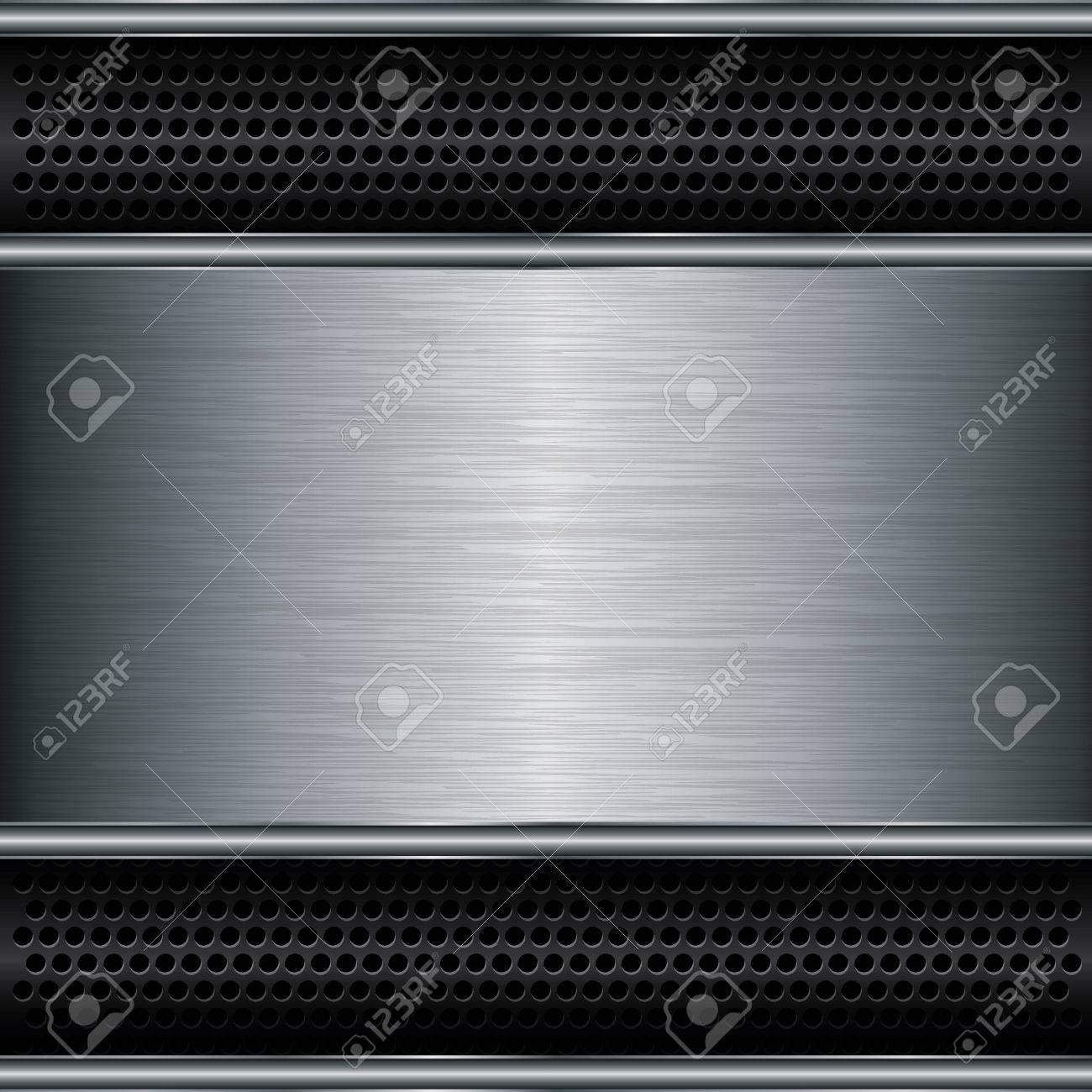 Abstract metallic background, vector illustration Stock Vector - 17020076
