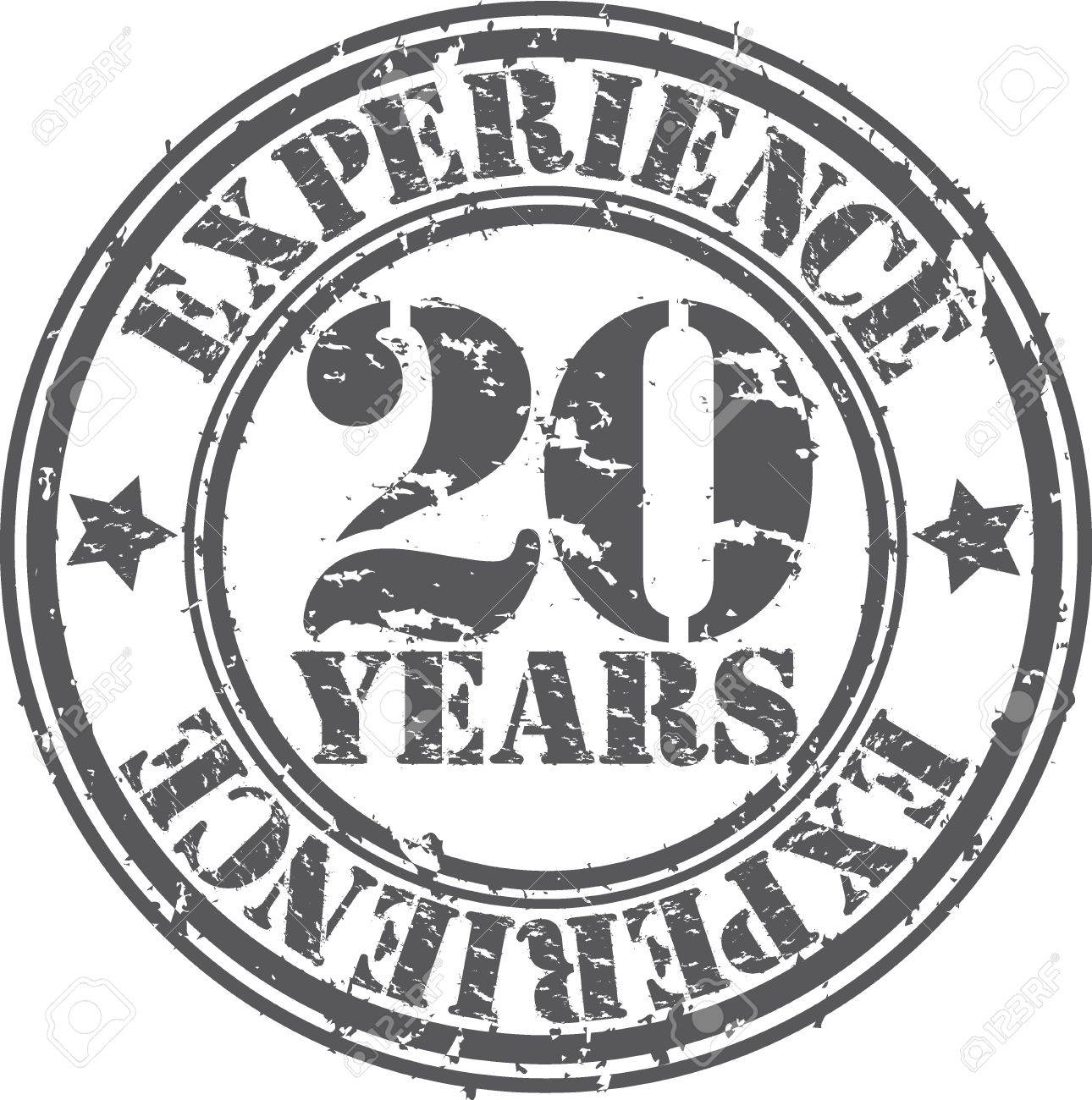 Grunge 20 years of experience rubber stamp, vector illustration Stock Vector - 18654213