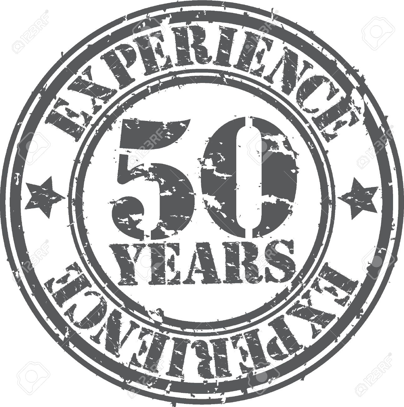 grunge 50 years of experience rubber stamp vector illustration stock vector 18654215