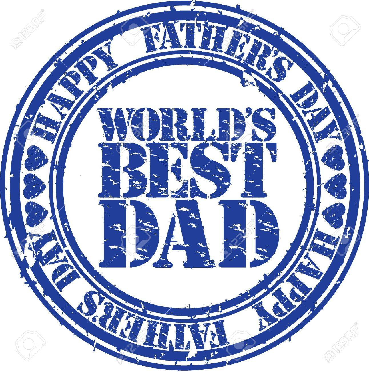 Grunge Happy father s day rubber stamp illustration Stock Vector - 18758230