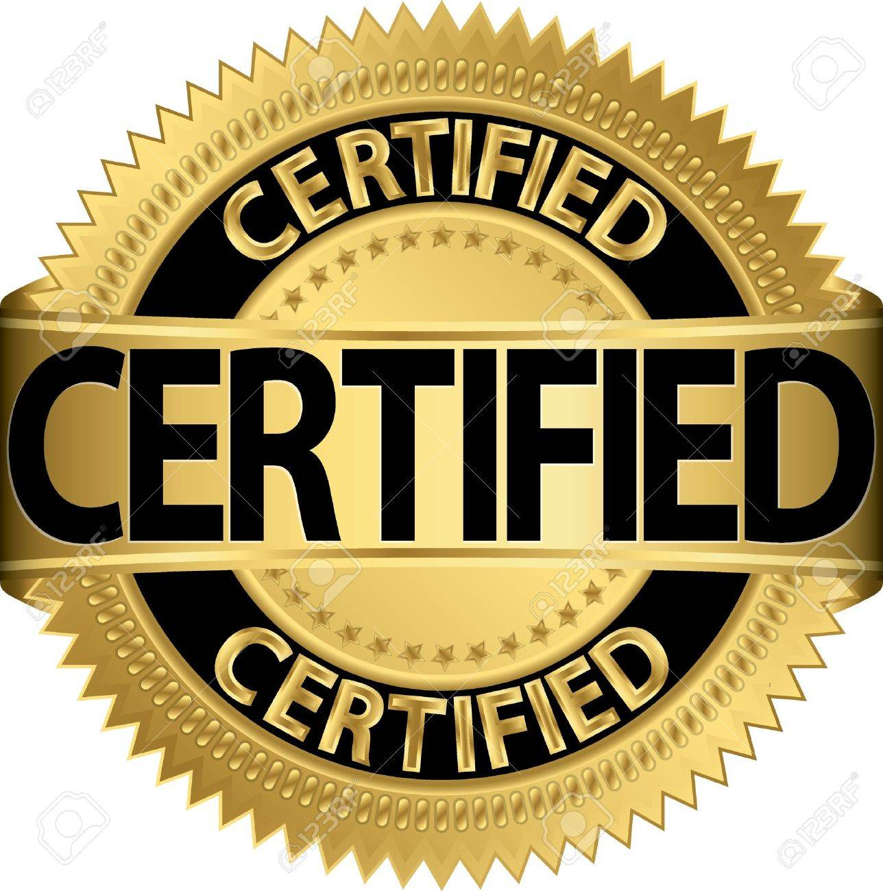 Certified golden label,  illustration Stock Vector - 20352244