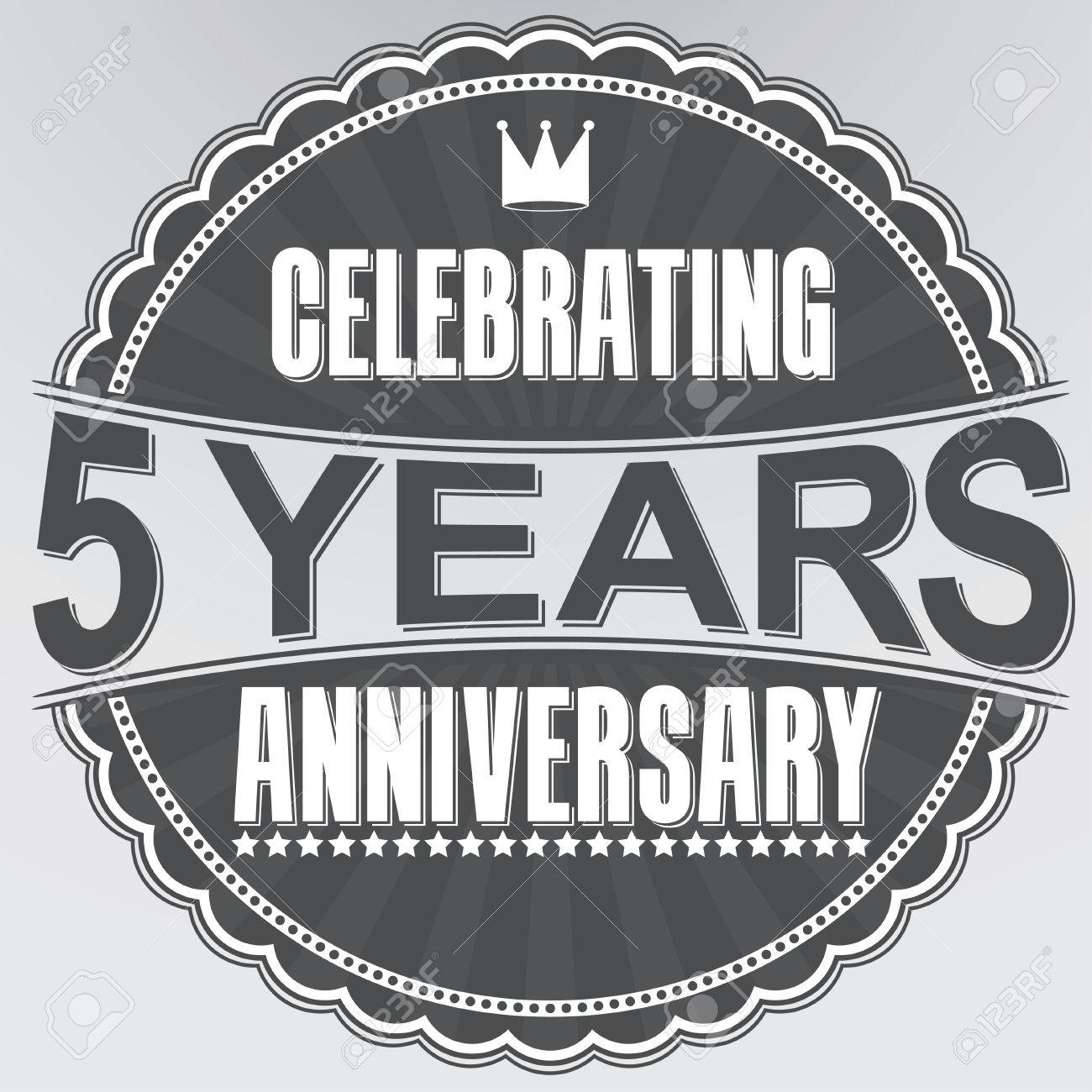 Celebrating 5 years anniversary retro label vector illustration celebrating 5 years anniversary retro label vector illustration stock vector 35849655 biocorpaavc Choice Image