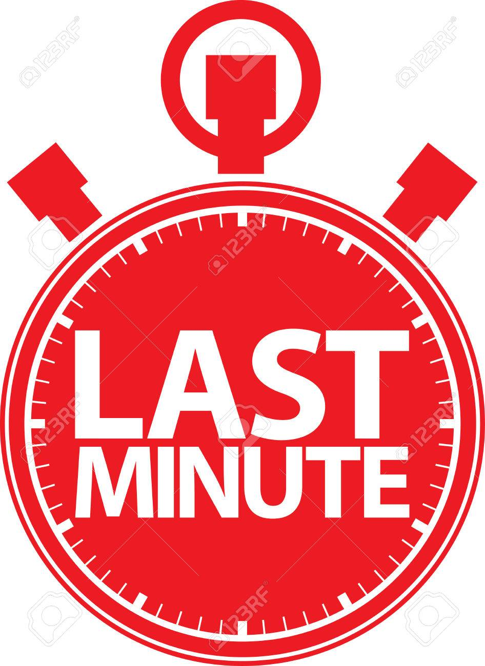last minute stopwatch icon vector illustration royalty free