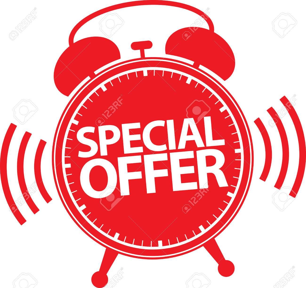 Special offer alarm clock icon, vector illustration - 50564798