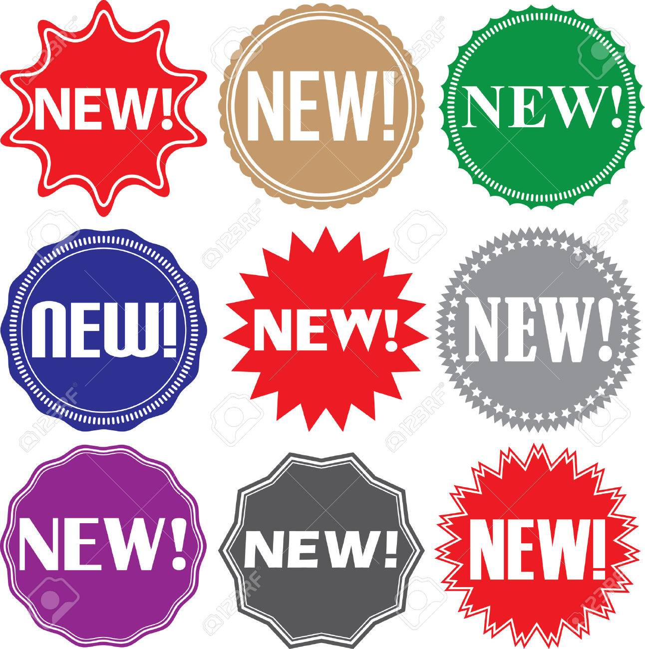 New signs set new sticker set illustration stock vector 53978060