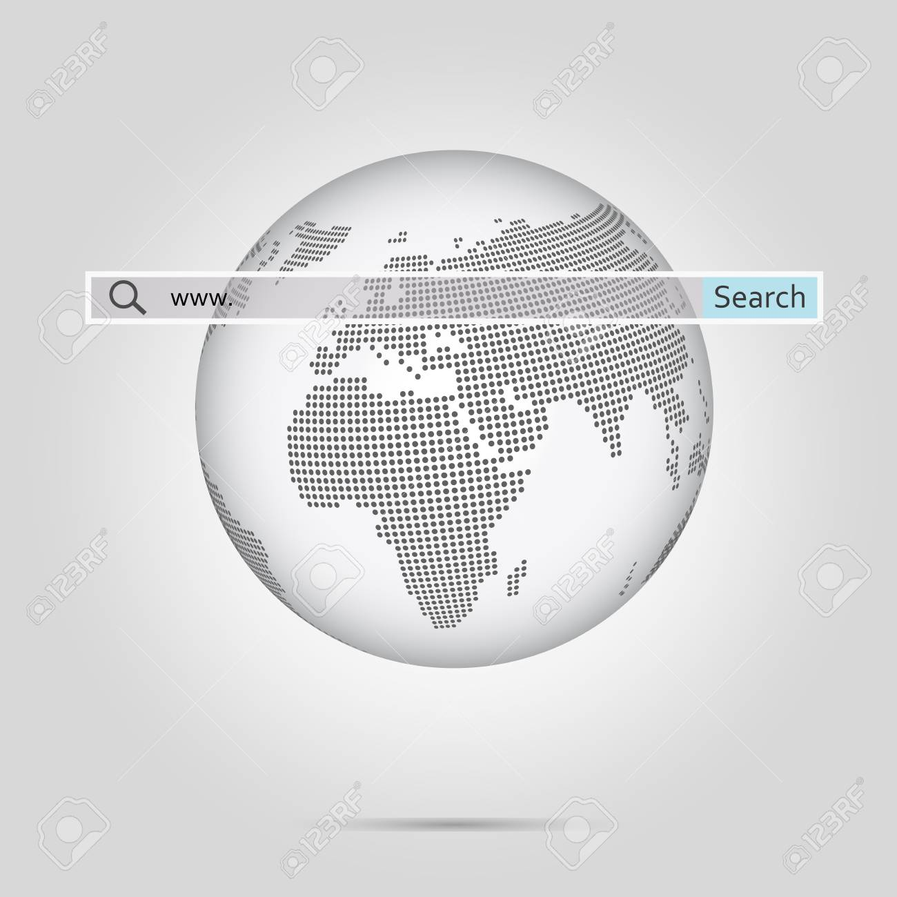 Monochrome globe with halftone dotted world map vector illustration monochrome globe with halftone dotted world map vector illustration stock illustration 77213023 gumiabroncs Images