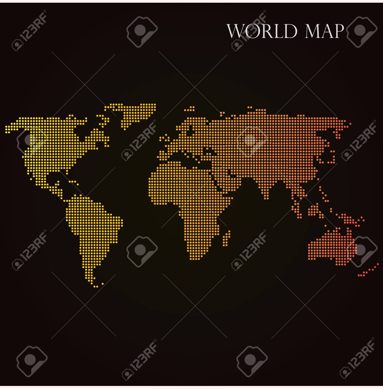 Halftone dotted world map with orange gradient overlay vector halftone dotted world map with orange gradient overlay vector illustration stock vector 77621278 gumiabroncs Image collections