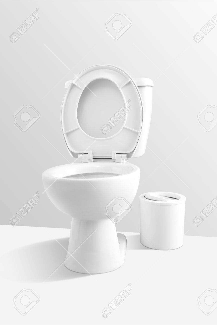 White Toilet Bowl Stock Photo, Picture And Royalty Free Image. Image ...
