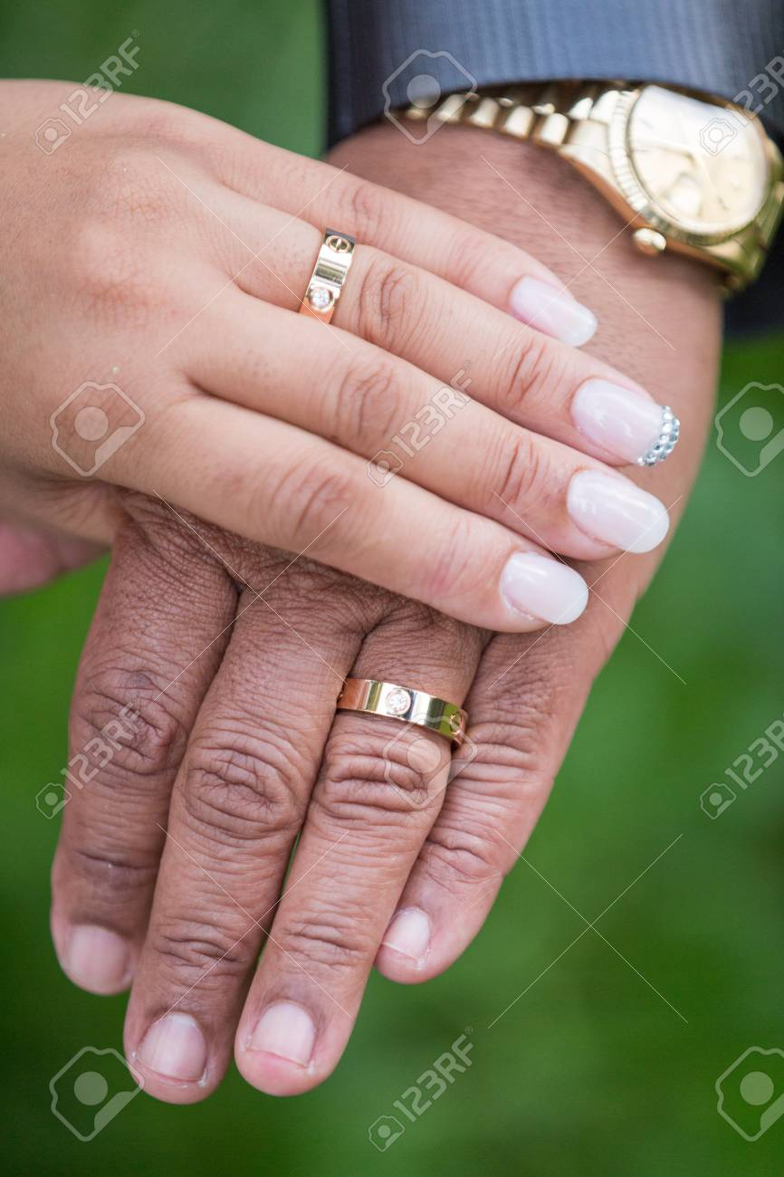 Old Wedding Couple Hands Stock Photo, Picture And Royalty Free Image ...