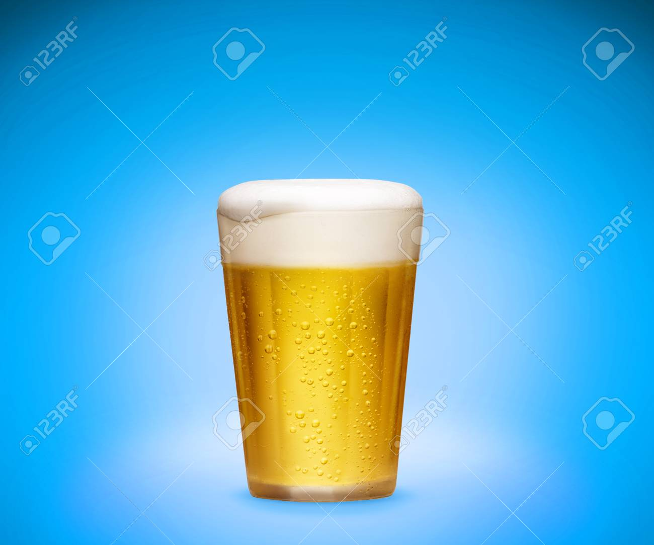 Glass of cold beer - 49967116