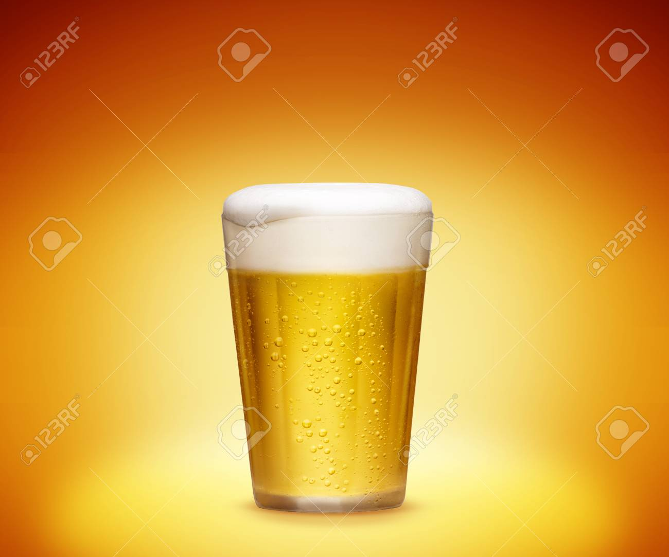 Glass of cold beer - 49967225
