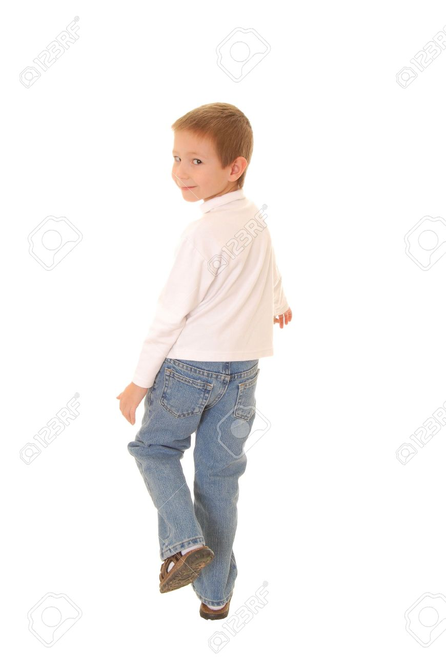 Portrait of a young boy walking away Stock Photo - 9296019