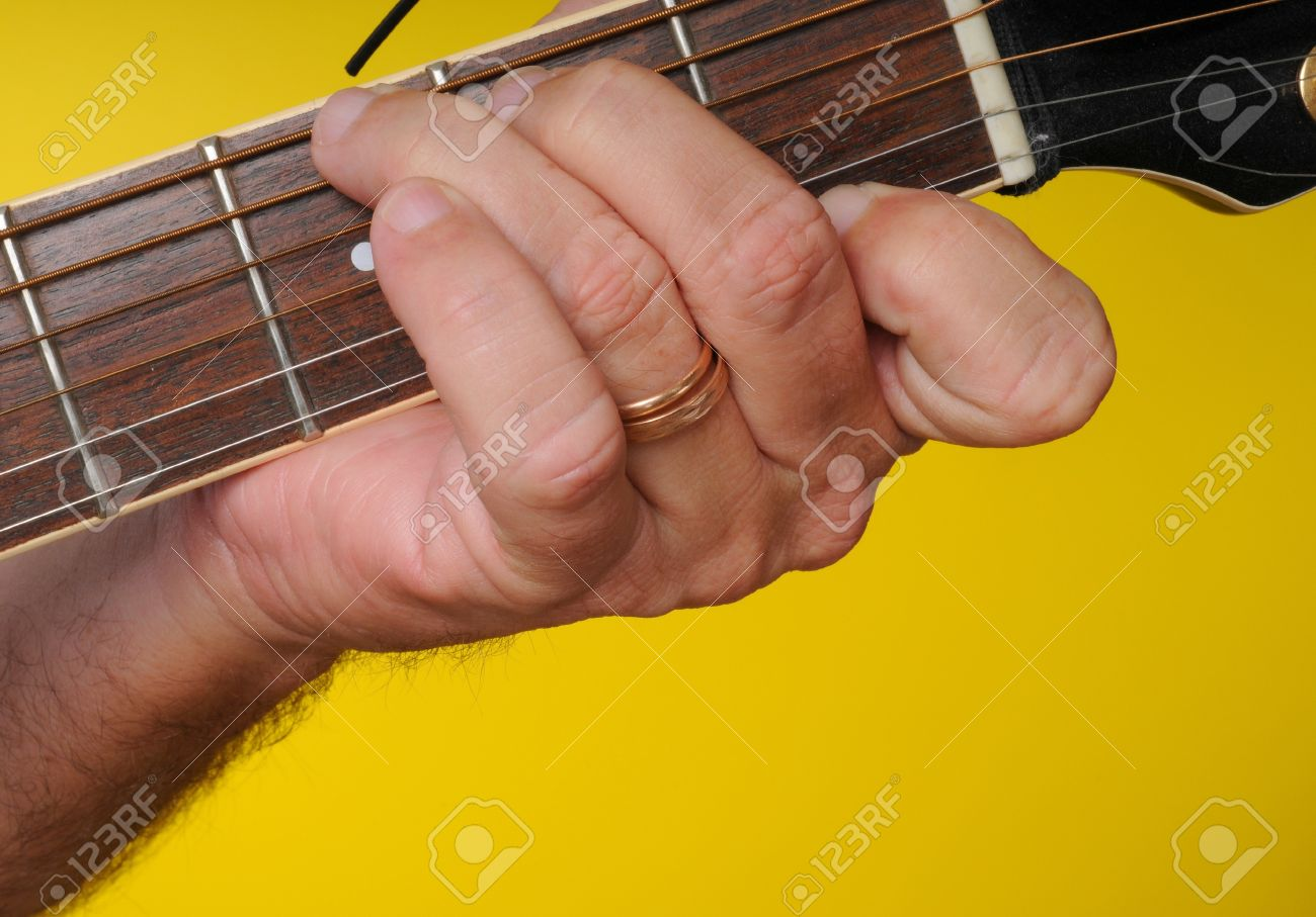Finger Position For A G7 Guitar Chord Stock Photo Picture And