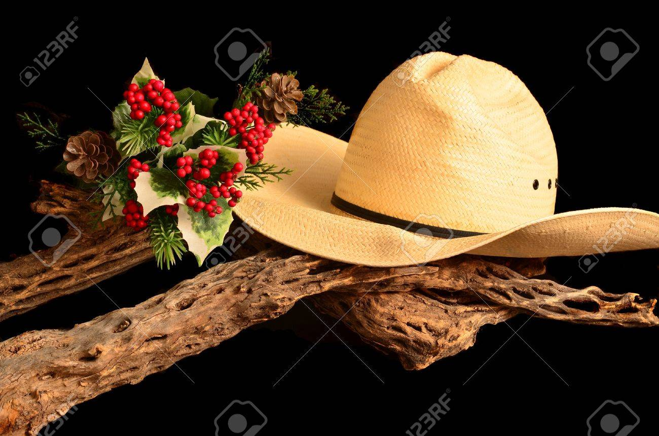 An American Style Representation Of A Cowboy Christmas Stock Photo ...