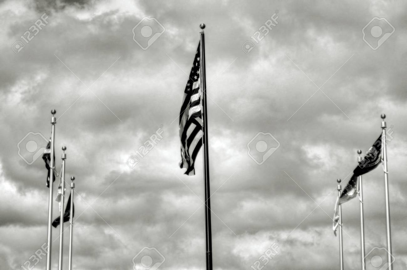 American and allied flags and entrance to Pearl Harbor Stock Photo - 11332126