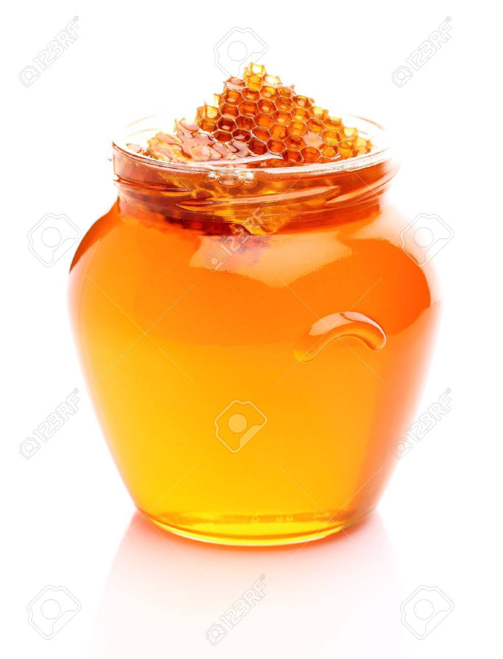 Fresh honey with honeycomb Stock Photo - 15651719