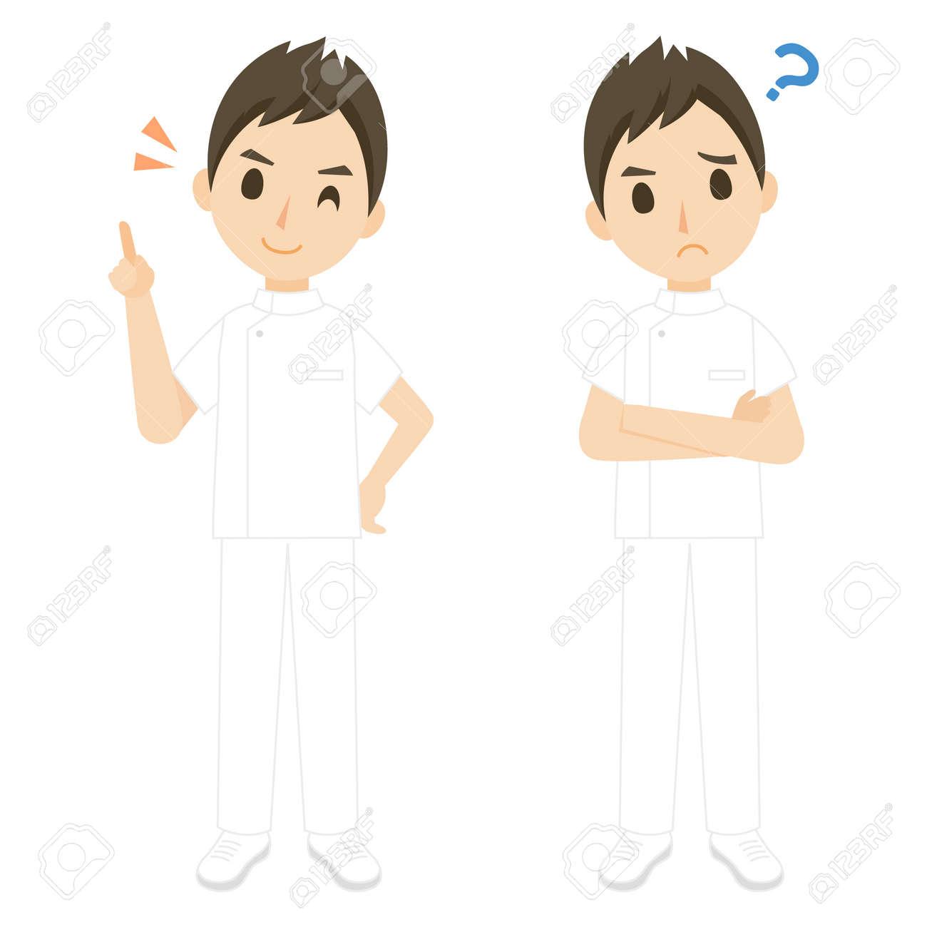 Nurse Male Whole Body Pose Set - 168556839