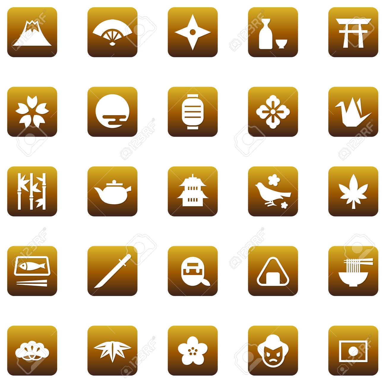 Japanese-style icon set - 168556869