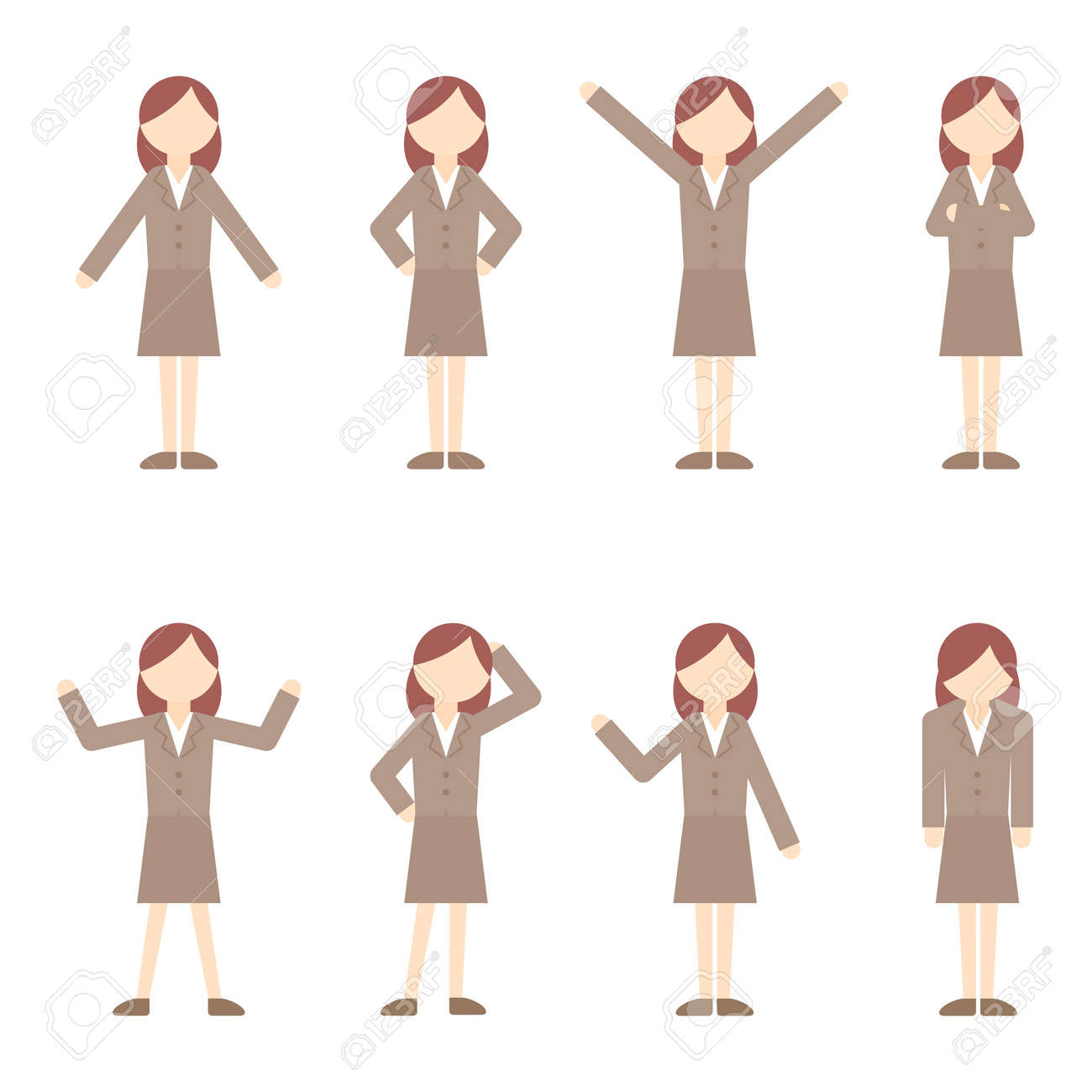 Flat Icon Person Businessman Woman - 168585477