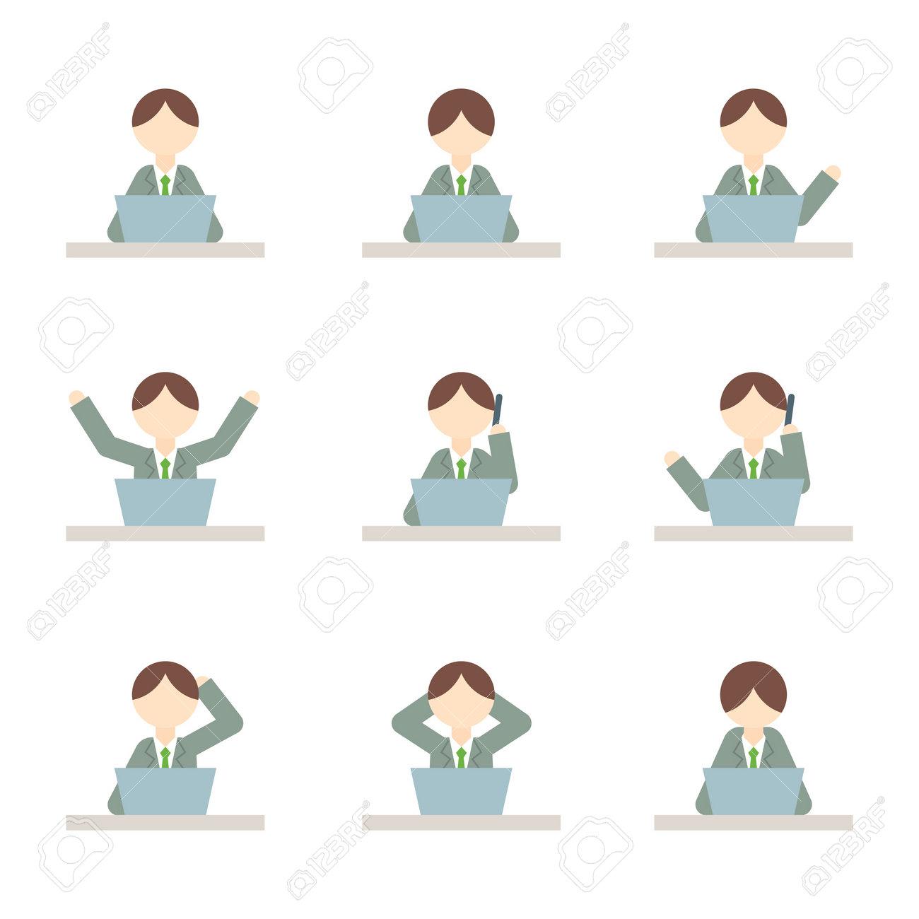 Flat Icon Person Businessman Male - 168585539