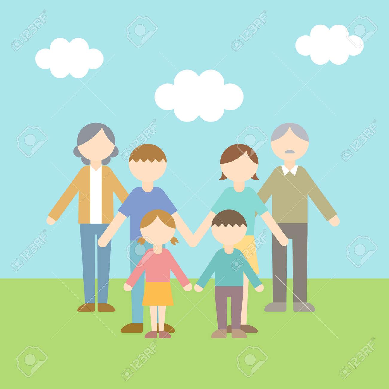 Flat Icon Family Sky - 168585543