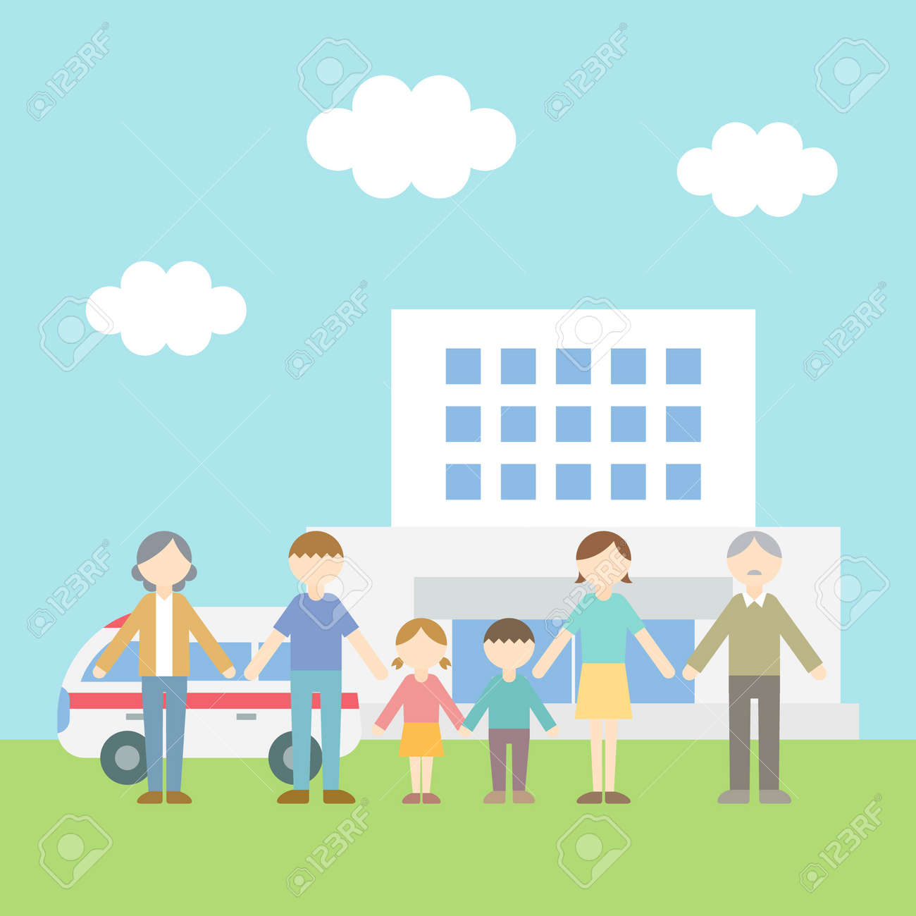 Flat Icon Person Family Hospital - 168585546