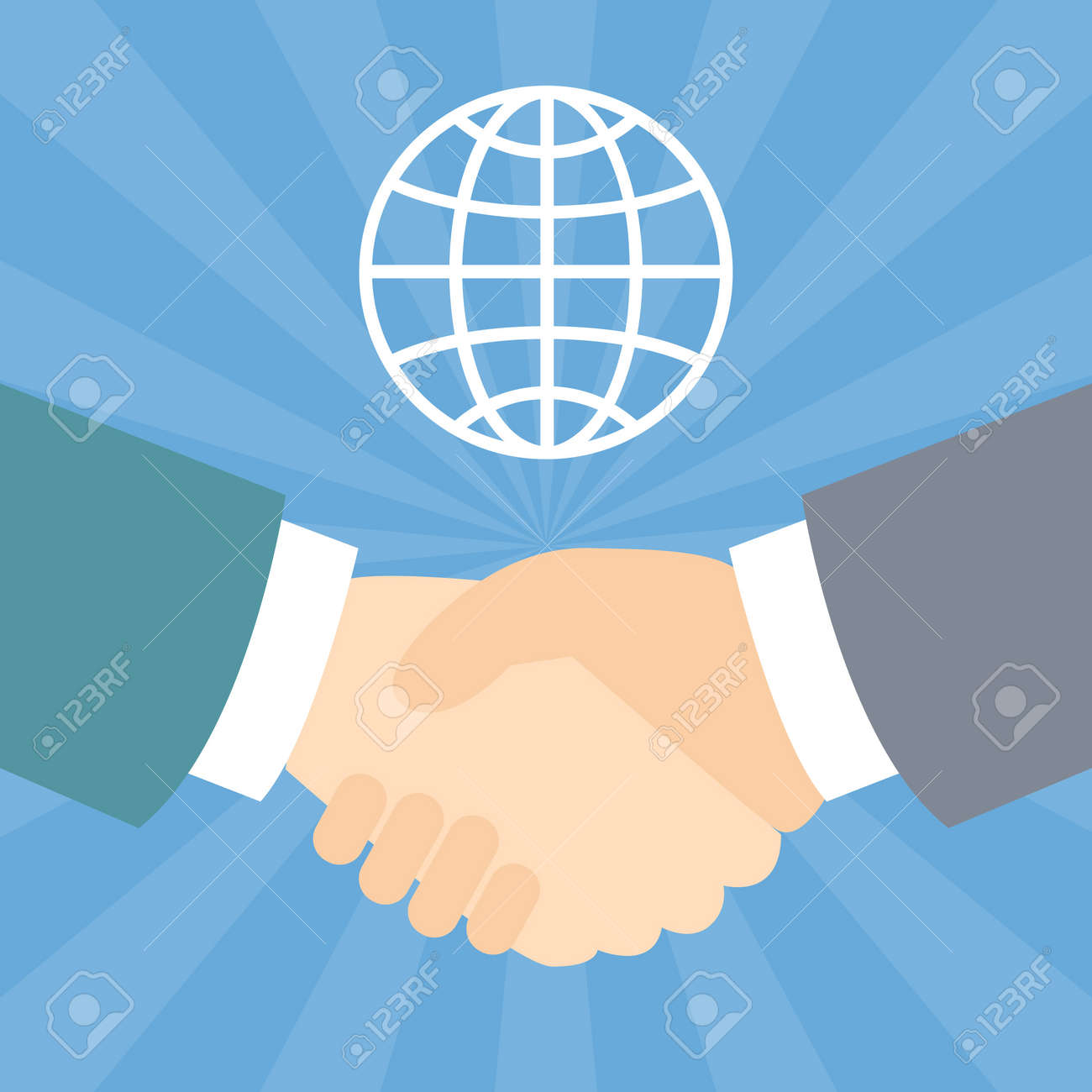 Shook hands with global - 168556882