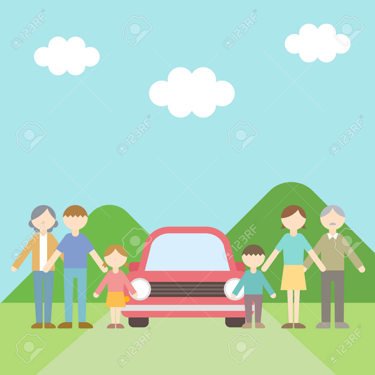 Flat Icon Person Family Drive - 168585555