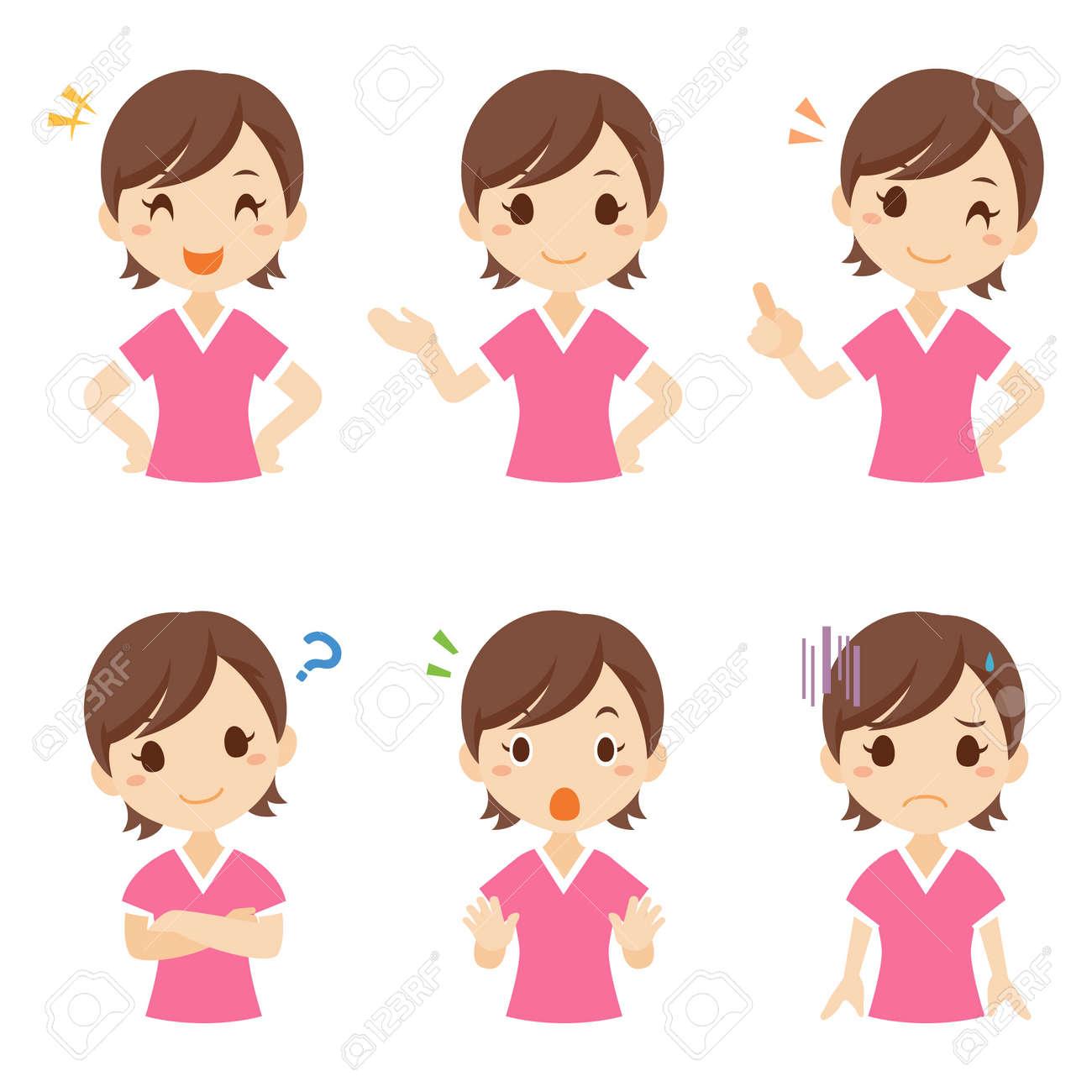 Girl Child Facial Expression Pose - 168556955